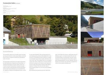 Forstwerkhof Safien | Architektur - World-Architects
