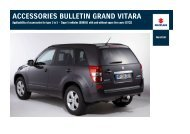 ACCESSORIES BULLETIN GRAND VITARA - Suzuki