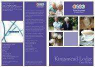 Kingsmead Lodge Brochure - Four Seasons Health Care