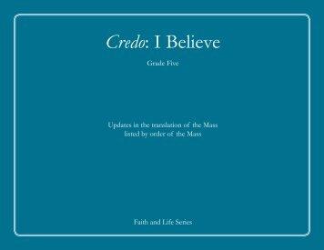 Credo: I Believe