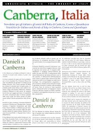 Danieli a Canberra Danieli in Canberra - Associazione Italia-Australia