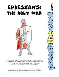 Ephesians: The Holy War - Preach The Word