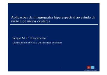 Aplicações da imagiografia hiperespectral - Universidade do Minho