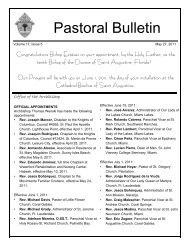 Pastoral Bulletin - Archdiocese of Miami
