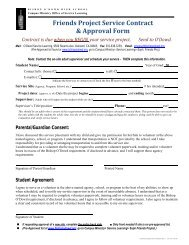 Friends Project Service Contract & Approval Form - Bishop O'Dowd ...