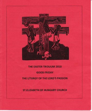 Music April 2nd - Good Friday - St Elizabeth of Hungary in Portland ...