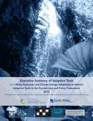 Water resources executive summary - Sea Grant College Program
