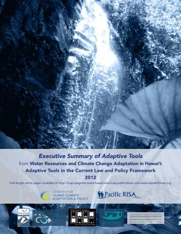 Water resources executive summary - Sea Grant College Program