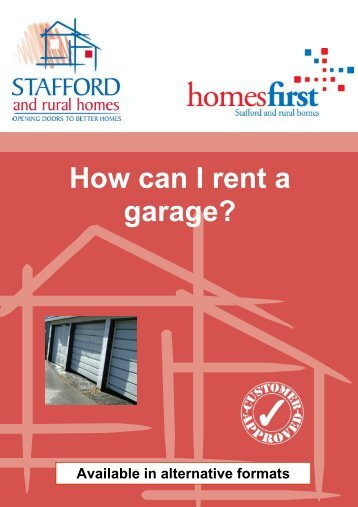 How can I rent a Garage? (256.9kb) - Stafford and Rural Homes