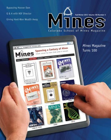 Mines Magazine Turns 100 - the Timothy and Bernadette Marquez ...