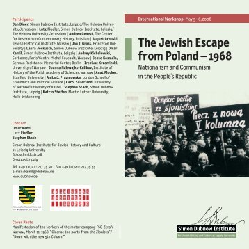 The Jewish Escape from Poland – 1968 - Simon-Dubnow-Institut