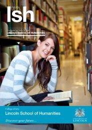 LSH Magazine Issue 4 (PDF) - University of Lincoln