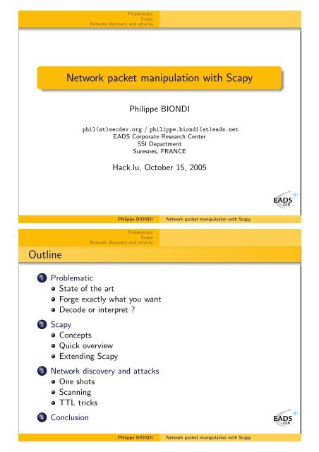 Network packet manipulation with Scapy