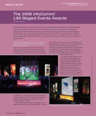 The 2008 InfoComm/ LSA Staged Events Awards - Lighting & Sound ...
