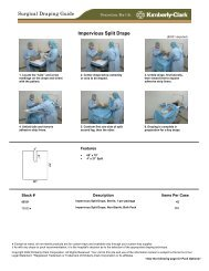 Impervious Split Drape Surgical Draping Guide