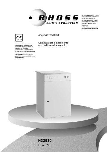 H32930-v01 Manuale Installazione TB/SI 31 - Rhoss