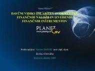 Davčni vidiki oslabitev in okrepitev finančnih naložb ter ... - Planet GV