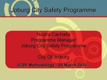 Joburg City Safety Programme - NDP