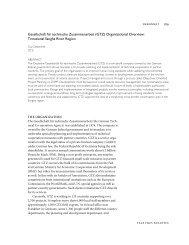 Gesellschaft für technische Zusammenarbeit (GTZ) Organizational ...
