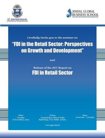 FDI in the Retail Sector: Perspectives on Growth and Development
