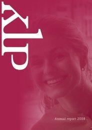 Annual report 2008 - KLP