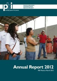 Annual Report PBI Mexico 2012 - Peace Brigades International-USA