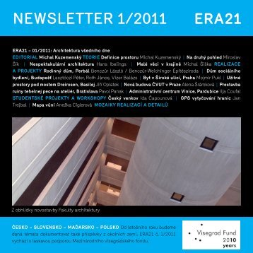 newsletter 1/2011 - Era21