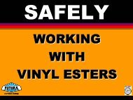 Working with Vinyl Esters - ITW Futura Coatings