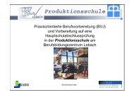 Praxisorientierte Berufsvorbereitung (BVJ) und Vorbereitung auf ein