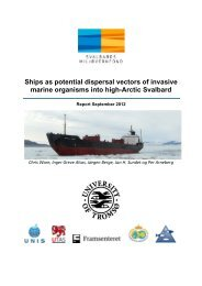 Ships as potential dispersal vectors of invasive ... - Sysselmannen