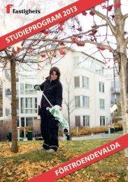 Studieprogram för förtroendevalda 2013 - Fastighetsanställdas ...
