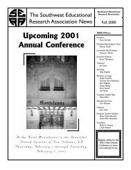 Fall 2000 Newsletter - SERA