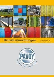 Betriebseinrichtungen - PAVOY GmbH