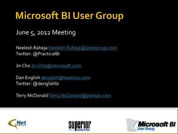 BI User Group Presentation from