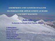 In amorphous materials - Technische Universität Wien