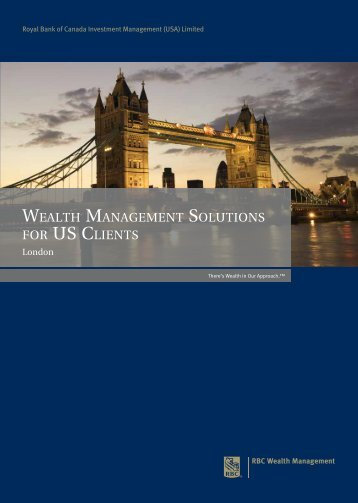 wealth management solutions for us clients - RBC Wealth ...
