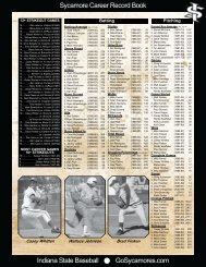 Indiana State Baseball GoSycamores.com Sycamore Career Record ...