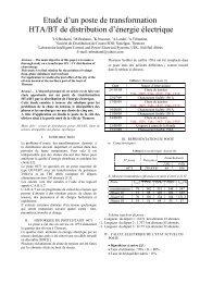 Etude d'un poste de transformation HTA/BT de distribution d'énergie ...