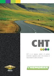 CHT is an aqueous solution of azotized amphoteric ... - Chemoran