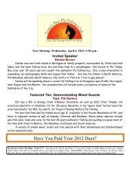 April 2012 - Tampa Bay Fly Fishing Club