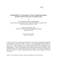 assessment of failures of post-frame buildings in new york state due ...