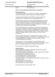 Svar på motion angående privatiseringen av hemtjänsten, Kf 2013 ...