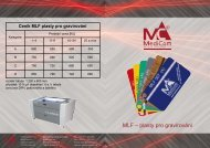 MLF – plasty pro gravírování - MediCom