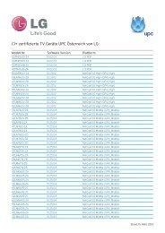 CI+ zertifizierte TV Geräte UPC Österreich von LG: