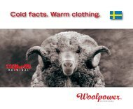 Cold facts. Warm clothing. - Woolpower