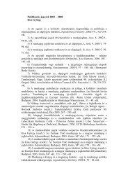 Dr. Kiss György publikációi - ICELL - Összehasonlító és Európai ...