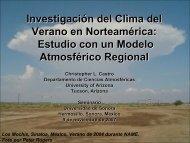Investigación del Clima del Verano en Norteamérica - University of ...