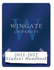 Student Handbook - Wingate University