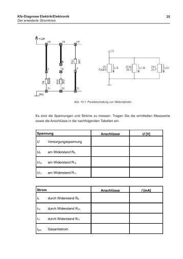 Kfz-Diagnose Elektrik/Elektronik Der erweiterte Stromkreis 35 Es ...