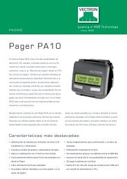 Pager PA10 - Vectron Systems AG